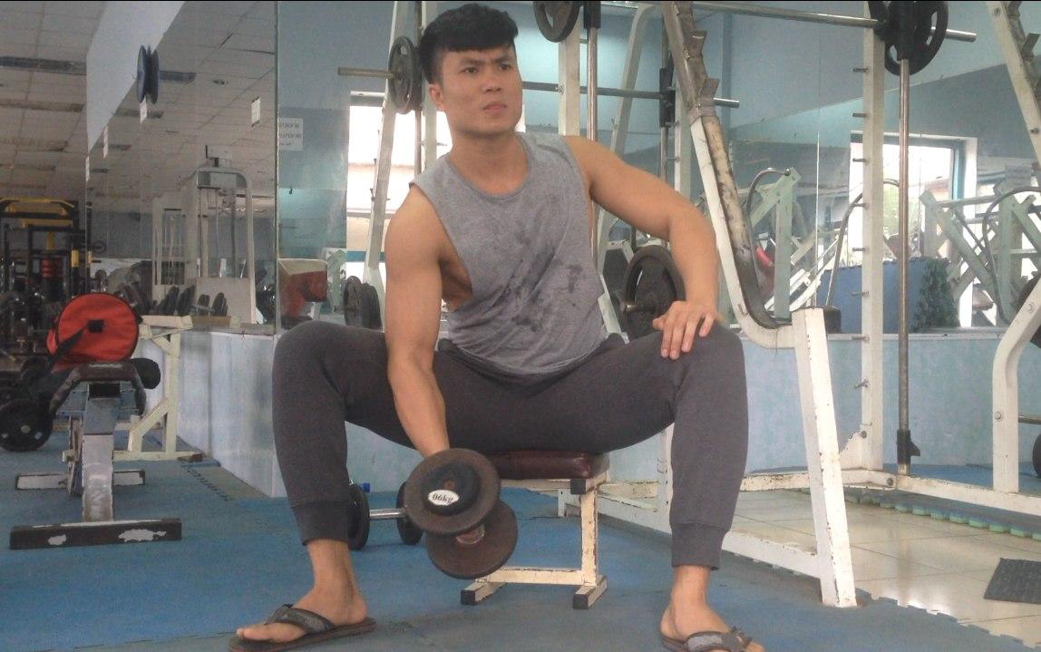 gymhealth Concentration curl, Tập bắp tay trước cho nam gầy tăng cân, tăng cơ