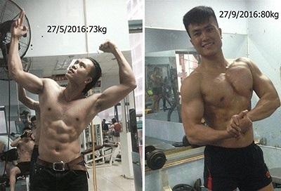gymhealth tôi tập gym tăng 7kg cân chủ yếu là cơ trong 4 tháng chỉ với bữa cơm thường ngày