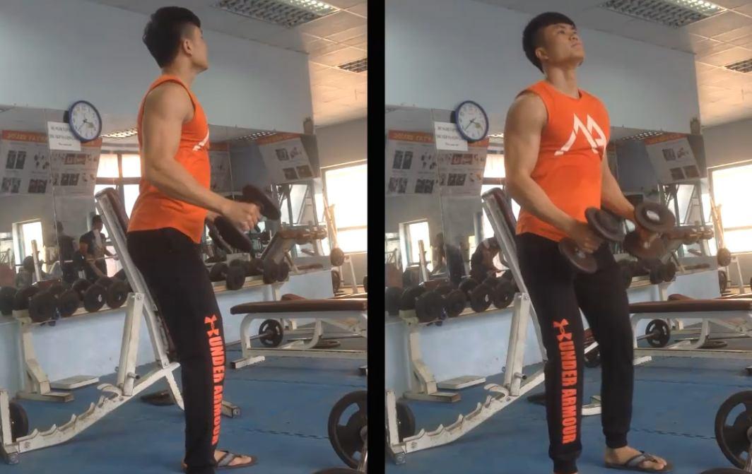 gymhealth lateral dumbbell raise giúp cho nam gầy tăng cân, tăng cơ để cơ vai giữa phát triển to và nét tự nhiên